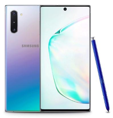 Samsung Galaxy Note 10 Dual Sim N970FD 256GB Aura Glow (8GB RAM) + FREE Samsung Note 10 Clearview Phone Cover